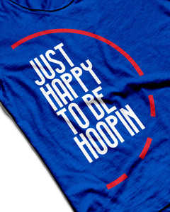 Just Happy To Be Hoopin Royal Blue Sleeveless Performance Vest