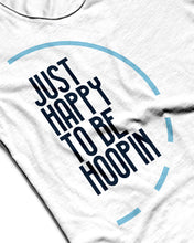 Just Happy To Be Hoopin White Sleeveless Performance Vest