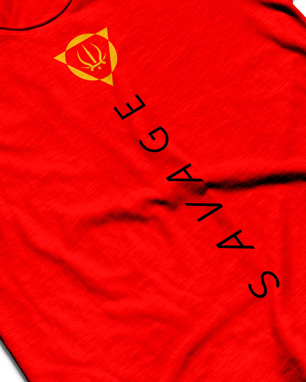 Savage Fire Red Sleeveless Performance Vest