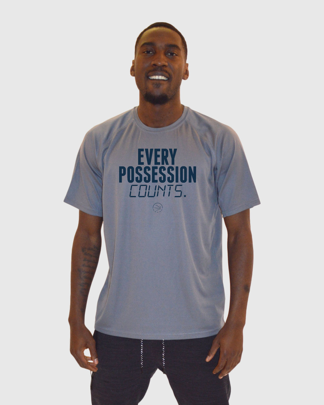 Every Possession Counts Performance Grey T-Shirt