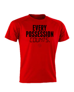 Every Possession Counts Performance Red T-Shirt