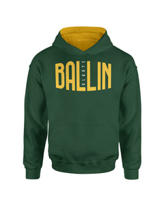 Ballin Always Forest Green Pullover Kids Hoodie