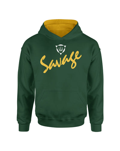 Savage Forest Green Pullover Kids Hoodie