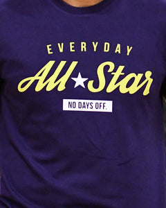 Everyday All-Star Mens Purple T-Shirt