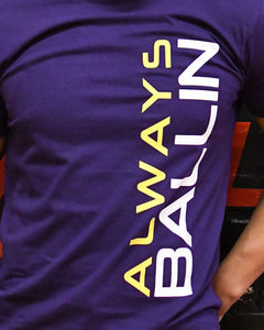 Vertical AB Mens Purple T-Shirt