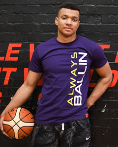 Vertical AB Lakers Mens T-Shirt