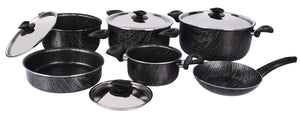 Grandi Cook Wooden Set 10 Pcs  Stewpot 16-22-24-26 Frypan 20 Round Oven Dish 22