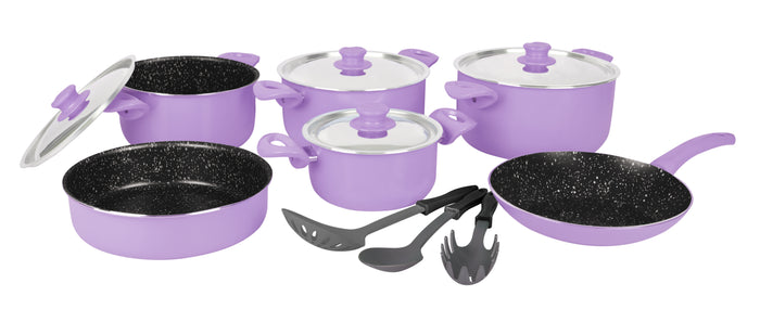 Grandi Cook Pop Set 10 pcs Stewpot 16-18-22-28+Frypan 24+Round OvenDish 22