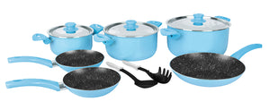 Grandi Cook Pop set 11 pcs Stewpot 16-20-26+ Fry Pan 20-22-26 + 2 Kitchen Tools Free