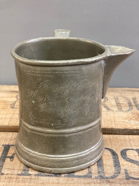 A Fabulous Pewter Pint Measure Tankard Jug