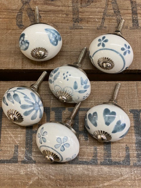 Set of Six Ceramic Drawer Knobs