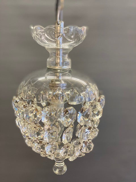 A lovely Silver and Crystal Vintage Chandelier