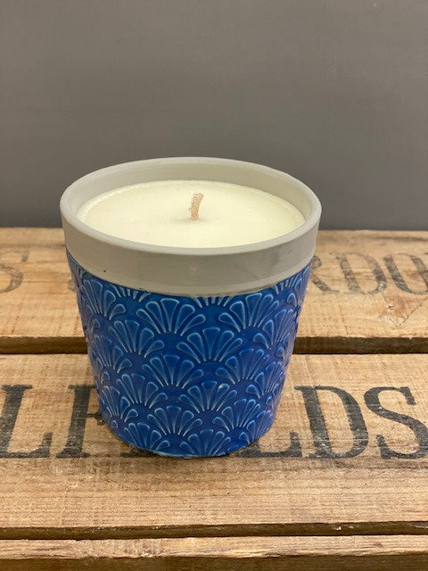 Ceramic Candle Pot - Natural Soy Wax