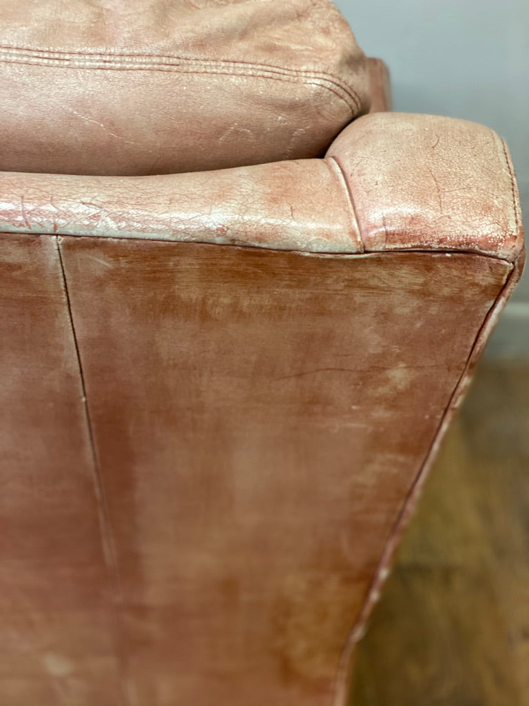 Vintage Light Tan Leather Chair