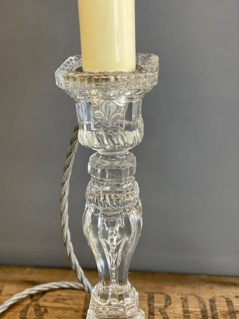 Glass Candlestick Table Lamp