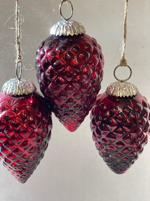 Glass Cone Christmas Decoration