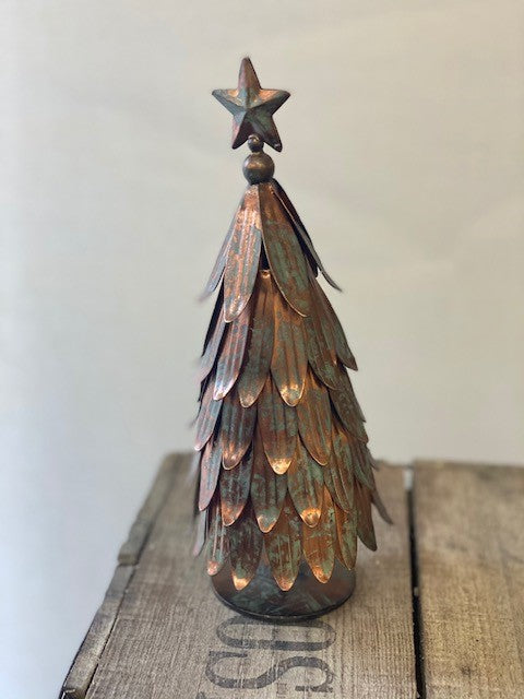 Decorative Metal Christmas Tree - Antique Copper (Small)