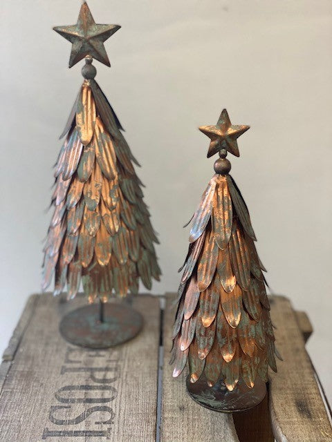 Decorative Metal Christmas Tree - Antique Copper (Large)