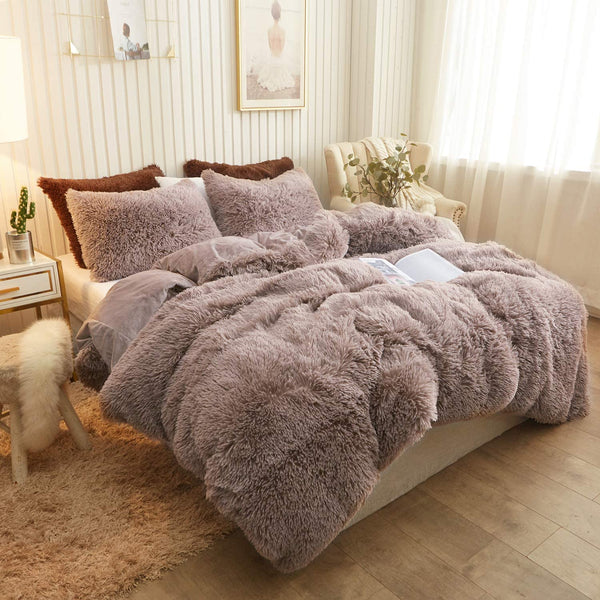 Khaki Cloud Blanket Set (3PCS)