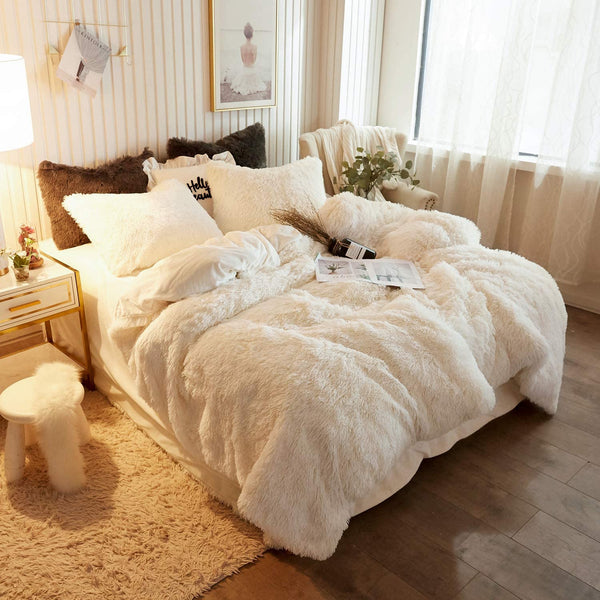 Vanilla White Cloud Blanket Set (3PCS)