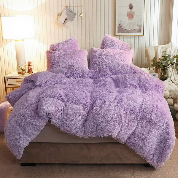 Purple Orchid Cloud Blanket Set (3PCS)