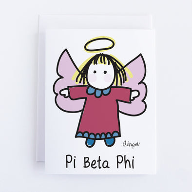 Pi Beta Phi Angel Sorority Notecard Set