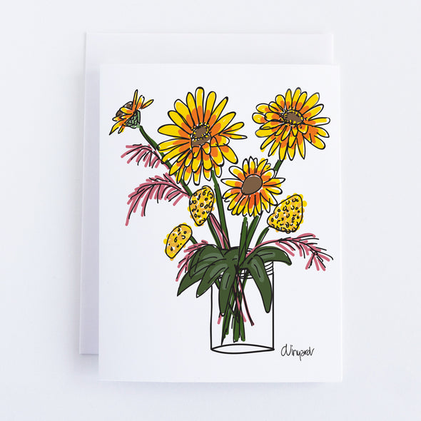 Breckenridge Sunflowers Notecard Set