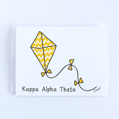 Kappa Alpha Theta Kite Sorority Notecard Set