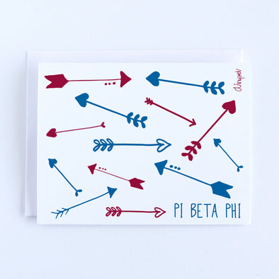 Pi Beta Phi Arrows Sorority Notecard Set