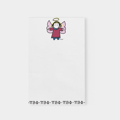 PI Beta Phi Angel with Greek Letters Sorority Notepad