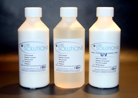 Soft Plastic Hardener / Softener 250ml each