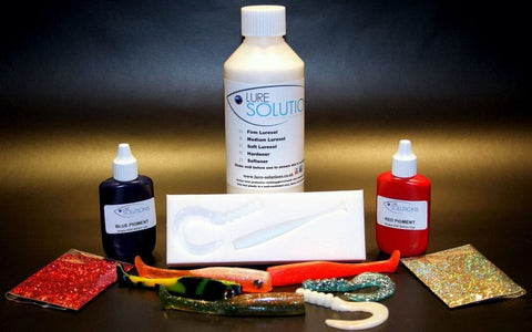 SOFT LIQUID PLASTIC FISHING LURE MAKING TRIAL KIT 250ml (Plastisol Swim Baits)