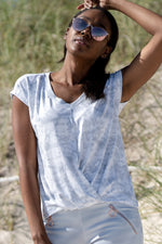 "Women's Morgan Draped Tee ""Tie Dye Print"""