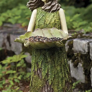 🔥49% OFF🔥Sherwood Fern Fairy Statuary with Bird Feeder