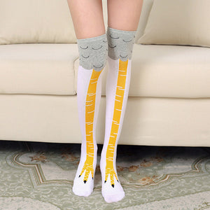 Funny Chicken Leg / Feet Socks Knee High (Unisex)