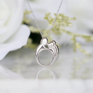 Mother and Child Necklace—Mother's Day Gift