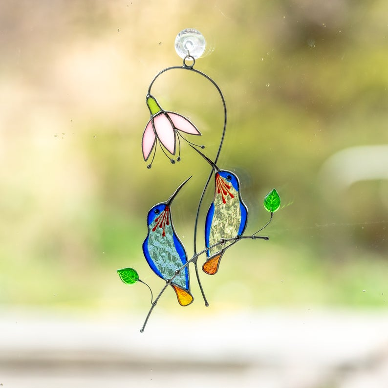 🔥49% OFF🔥Stained Glass Hummingbird Mother's Day Gift