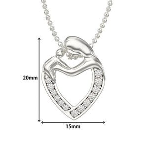 Mother and Child Hug Necklace-Mother's Day Gift