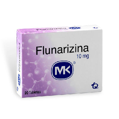 Flunarizina 10 mg 20 tabletas MK