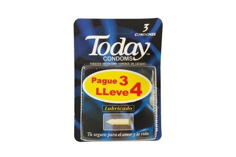 Preservativos Today Lubricado Pague 3 LLeve 4