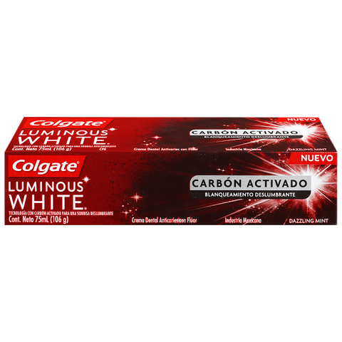 Crema Colgate Luminous White Carbón Activado 75 ml