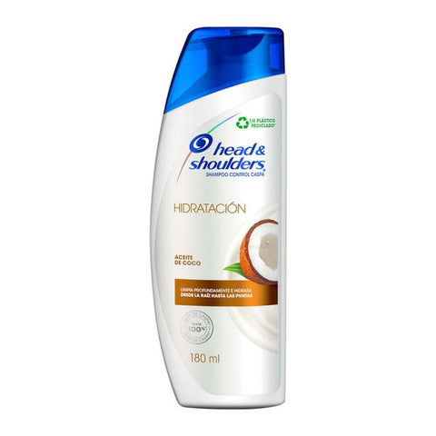 Shampoo Head-Shoulders Hidratación  Aceite de Coco 180 ml