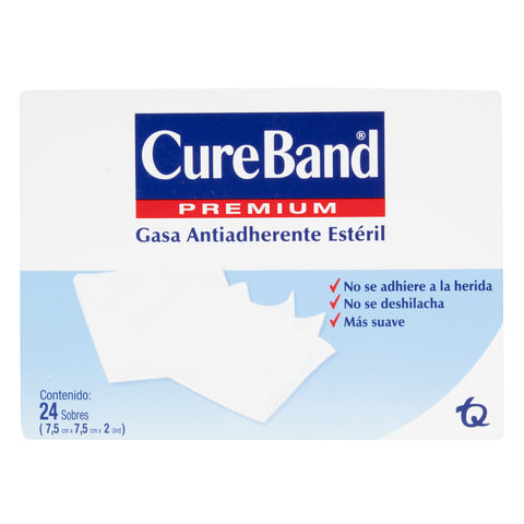 Gasa Cure Band Estéril 7.5X7.5 por 24 unidades