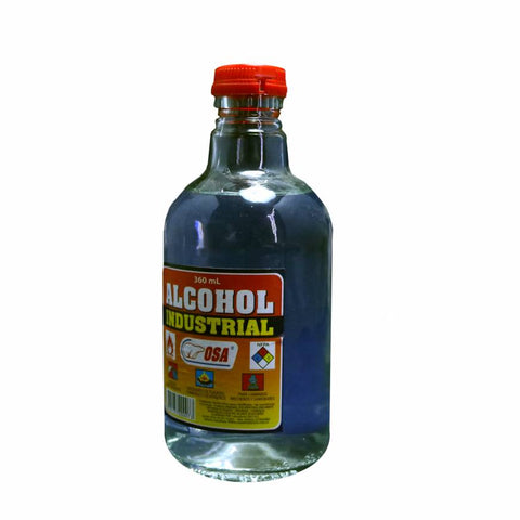 Alcohol de 90 Grados Media Botella Osa 360 ml