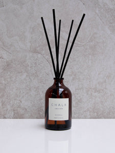 Chalk Amber Glass Diffuser Lavender and Geranium 100 ml