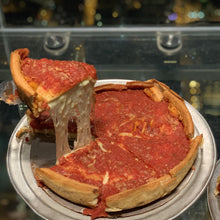 Load image into Gallery viewer, deep dish pizza on food history virtual event for team building