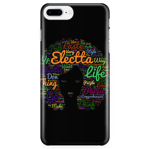 Electta Black iPhone 7+ Hardback Case