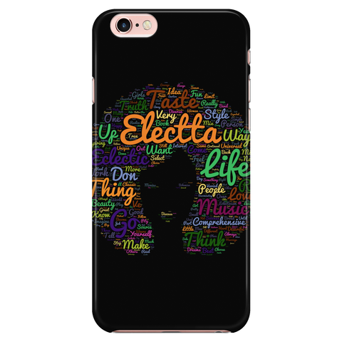 Electta Black iPhone 7 Hardback Case