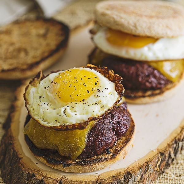 Egg and Burger Breakfast Sandwich