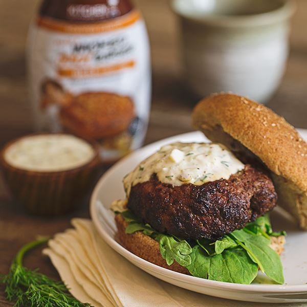 Lamb Burger with Tzatziki Sauce